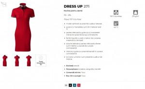 Rochie dama polo Malfini DRESS UP 271 Formula Red