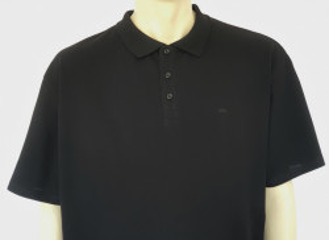 T. 4515.Negru, Tricou Polo Pique Barbati EXTRA-LARGE
