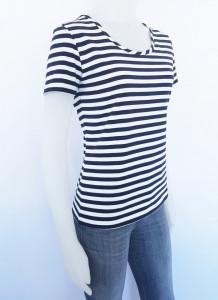 Tricou Dama Marinar 2919.Alb-Navy