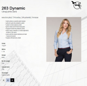 Camasa Dama Malfini Slim-Fit DYNAMIC 263 Negru