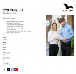 Camasa dama Malfini Slim-Fit STYLE LS 229 Negru