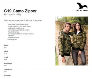 Hanorac Barbati Camuflaf Malfini CAMO ZIPPER C19 Maro
