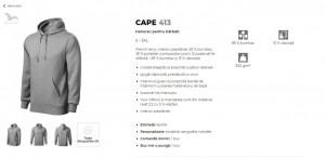 Hanorac Barcati Malfini Cape 413 Negru