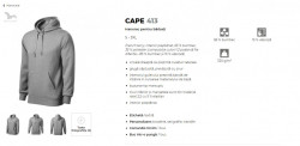 Hanorac Barcati Malfini Cape 413 Verde Sticla