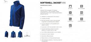 Jacheta Dama Malfini SOFTSHELL JACKET 51X Albastru Royal
