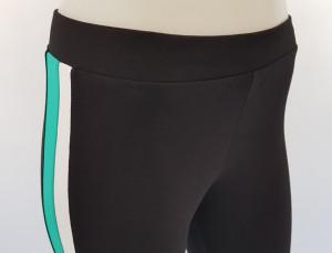 Pantalon Dama 3/4 Slim 2184 Negru&Verde