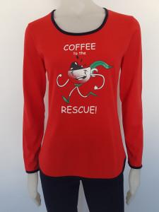 Pijama Damă 2128 Rosu Cafea
