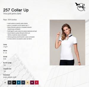 Tricou Dama Malfini Polo Pique COLLAR UP 257 Negru
