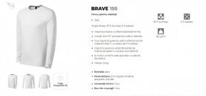 Bluza Barbati Malfini BRAVE 155 Alb & Negru