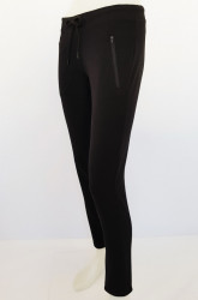 P.2007.Negru, Pantalon Dama SLIM cu fermoare la buzunare