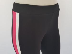 Pantalon Dama 3/4 Slim 2184 Negru&Magenta