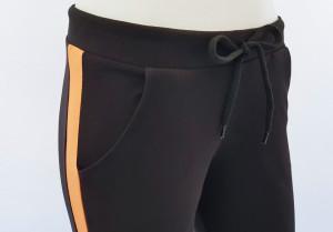 Pantalon Dama Conic 2177.Negru&Coral