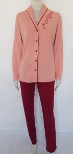 Pijama Damă Clasica Knox 2180 Roz Prafos