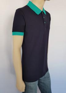Tricou Barbati SLIM Polo Pique 4512 Bleumarin