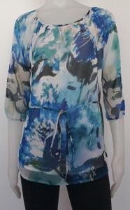 V.2013.Albastru Degrade, Bluza Dama Knox -Voal