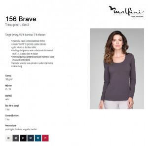 Bluza Dama Malfini BRAVE 156 Alb & Negru