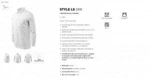 Cămaşă Bărbaţi Malfini Regular-Fit STYLE LS 209 Alb