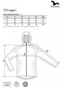 Jachetă softshell Damă Malfini COOL 514 Bleumarin