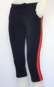 Pantalon Dama 3/4 Conic.2183.Bleumarin&Rosu