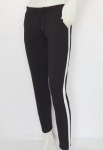 Pantalon Dama Conic.2177.Negru&Alb