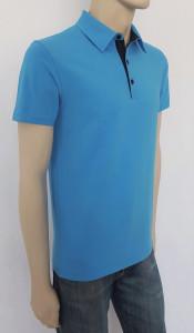 T.4507.Albastru, Tricou Barbati Knox Polo SLIM