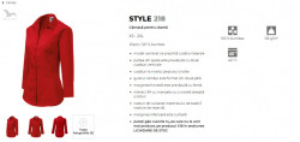 Camasa dama Malfini Slim-Fit STYLE LS 218 Rosu