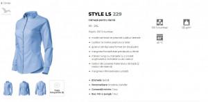 Camasa dama Malfini Slim-Fit STYLE LS 229 Alb