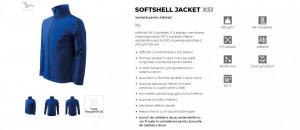 Jacheta Barbati Malfini SOFTSHELL JACKET X51 Albastru Royal