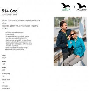 Jachetă softshell Damă Malfini COOL 514 Verde Mar