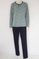 Pij.2169.Dusty Blue , Pijama Dama Knox, Talia 2