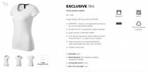 Tricou Dama Malfini EXCLUSIVE 154 SUPIMA COTTON Albastru & Rosu