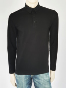 Bluza Barbati SLIM Polo Pique 4007.Negru