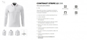 BluzaBarbati Slim Malfini CONTRAST STRIPE LS 258