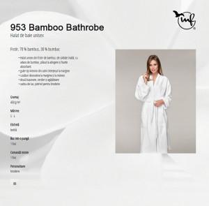 Halat de Baie Unisex BAMBOO BATHROBE 953