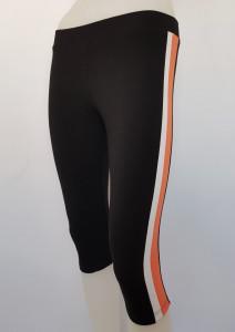 Pantalon Dama 3/4 Slim 2184 Negru&Coral