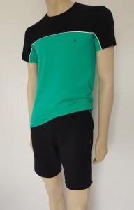 Set Barbati Tricou 4620+Pantalon 4060 Verde Negru