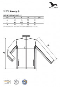 Jachetă Polar Copii Malfini FROSTY 529 Turqoise