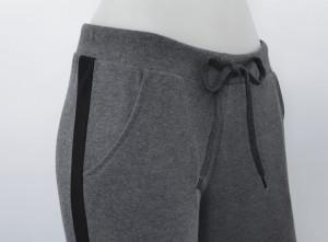 P.2183.Gri&Negru, Pantalon Dama 3/4 Conic cu buzunar