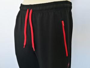 P.4004.Negru, Pantalon Trening Bărbați SLIM