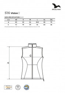 Vestă softshell damă Malfini VISION 516 Gri Metalic