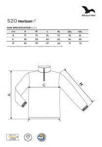 Bluza Polar Barbati Malfini HORIZONT 520 Negru