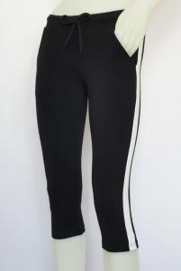 Pantalon Dama 3/4 Conic.2183.negru&alb
