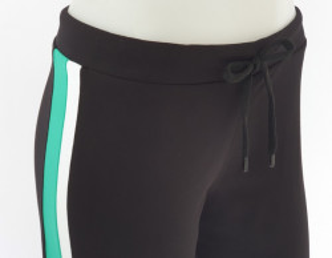 Pantalon Dama Conic.2182.Negru&Verde