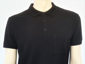 T.4511.Negru, Tricou Knox Polo Pique Clasic cu Buzunar
