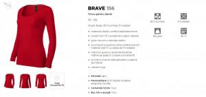 Bluza Dama Malfini BRAVE 156 Bleumarin & Formula Red