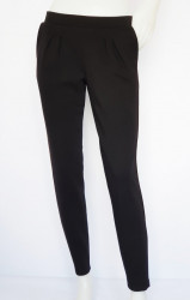 P.2186.Negru, Pantalon Dama KNOX Conic cu Pense