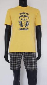 Pijama Bărbați. 4080.Galben
