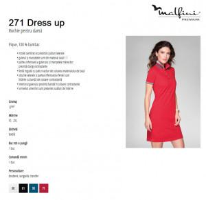 Rochie dama polo Malfini DRESS UP 271 Alb