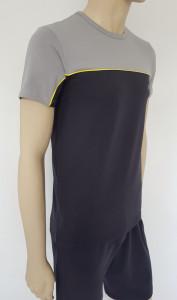 Set Barbati Tricou 4620+Pantalon 4060 Gri&Galben