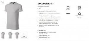 Tricou Barbati Malfini EXCLUSIVE 153 SUPIMA COTTON Bleumarin & Silver Grey
